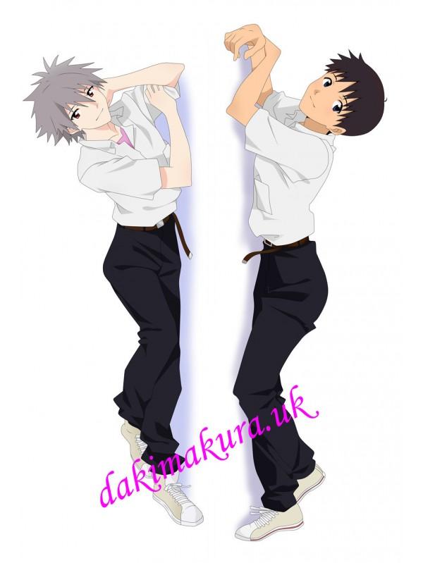 Evangelion Male Anime Dakimakura Japanese Hugging Body Pillow Cover
