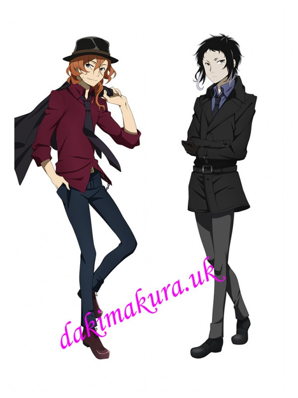Chuuya Nakahara and Ryuunosuke Akutagawa - Bungou Stray Dogs Male Anime Dakimakura Outlet Hugging Body Pillow Covers