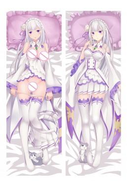 Emilia - Re:Zero Body hug dakimakura girlfriend body pillow cover