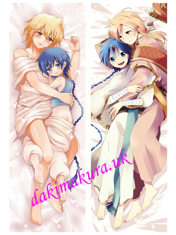Alladin and Alibaba Saluja - Magi The Labyrinth of Magic Male Japanese anime body pillow anime hugging pillow case