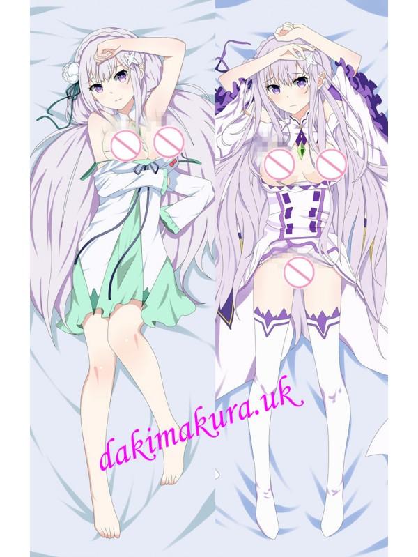 Emilia - ReZero Anime Dakimakura Japanese Love Body Pillow Cover