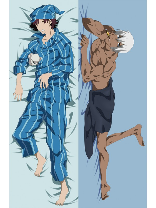 Leonardo Watch and Zapp Renfro - Blood Blockade Battlefron Male Anime Dakimakura Japanese Hugging Body Pillow Cover